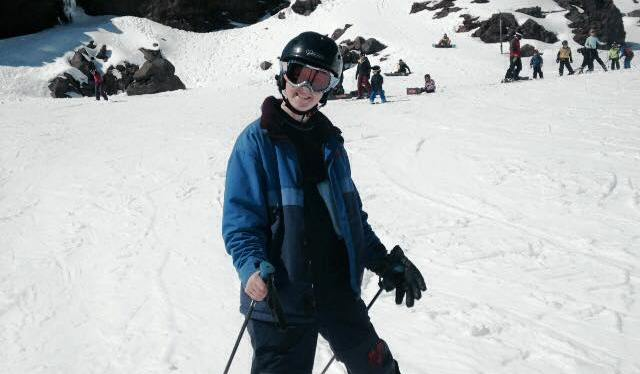 Skiing on MtRuapehu